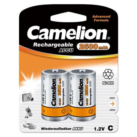 Camelion C/HR14, 2500 mAh, Rechargeable Batteries Ni-MH, 2 pc(s)