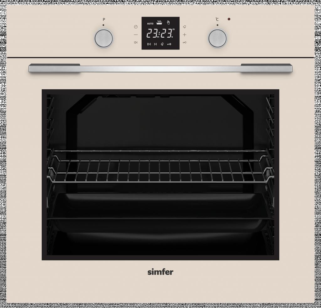 Simfer Oven 8408EERBJ Multifunctional, Touch/Pop-up knobs, Width 60 cm, Beige