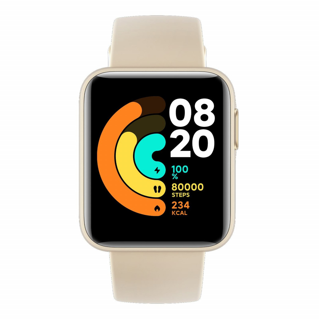 """Xiaomi Mi Watch Lite 1.4"""", Fitness tracker, GPS (satellite), Color TFT, Touchscreen, Heart rate monitor, Activity monitoring Yes, Waterproof, Bluetooth, Ivory"""