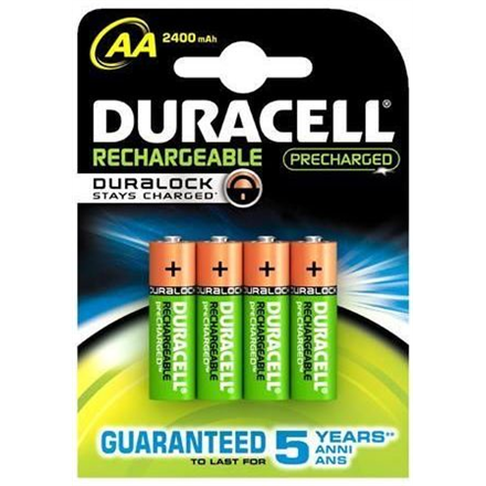 Duracell AA/HR6, 2500 mAh, Rechargeable Accu Stay Charged Ni-MH, 4 pc(s)