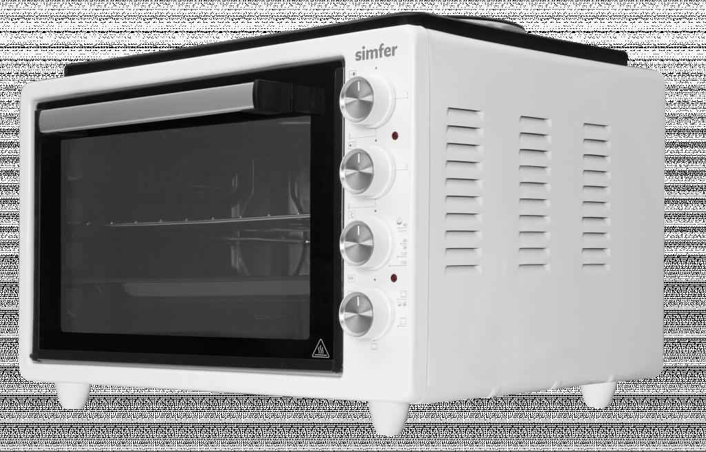 Simfer Midi Oven M4522.R02N0.WW 36.6 L, Electric, Mechanical, White, With 2 Hot Plates (W/2 Knob Control)
