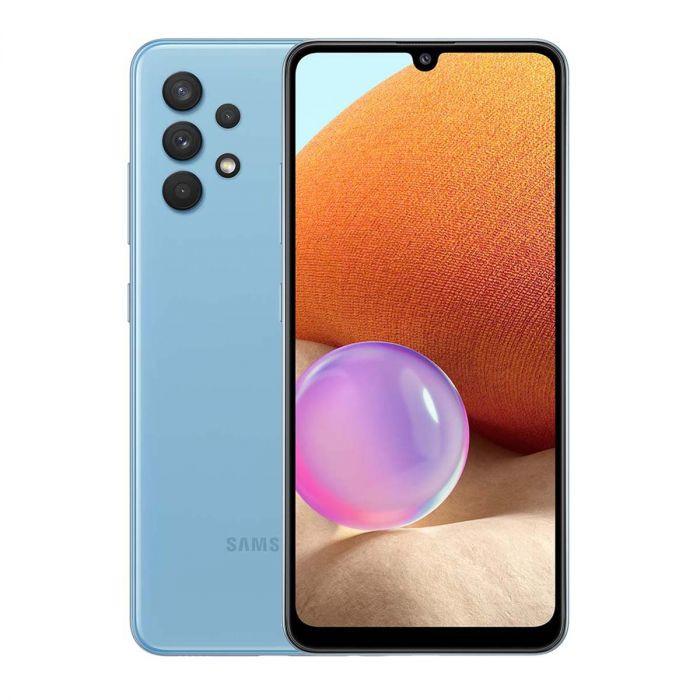 "Samsung Galaxy A32 5G Blue, 6.5 "", TFT, 720 x 1600, MediaTek MT6853 Dimensity 720 5G, Internal RAM 4 GB, 64 GB, MicroSDXC, Dual SIM, Nano-SIM, 3G, 4G, 5G, Main camera Quad 48+8+5+2 MP, Secondary camera 13 MP, Android, 11, 5000 mAh"