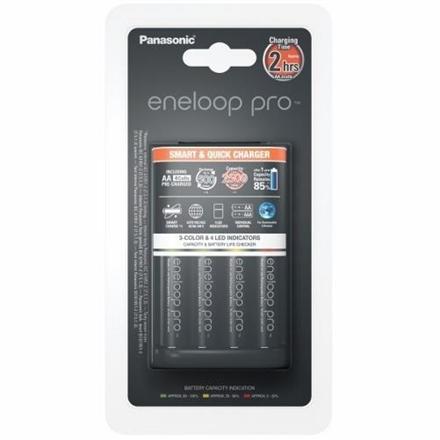 Panasonic eneloop Basic Battery Charger  1-4 AA/AAA, 4 x R6/AA 2500 mAh black incl.