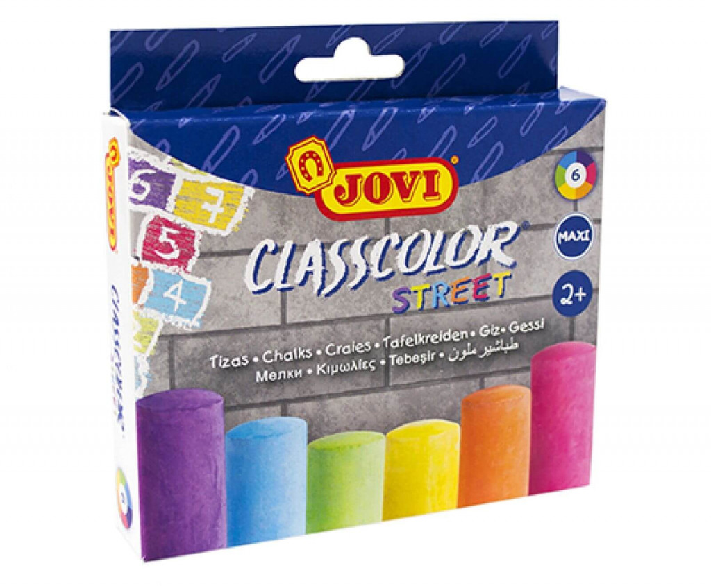 Asfaldikriidid Jovi Classcolor Street, 6 värvi