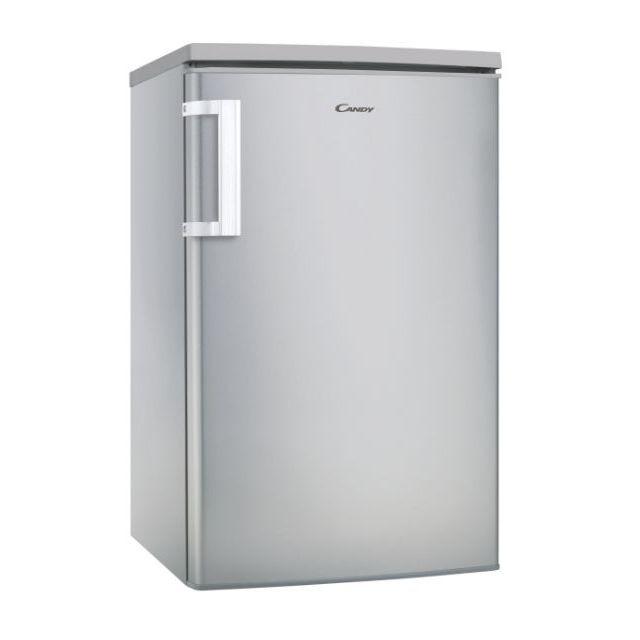 Candy Refrigerator CCTOS 502SHN Energy efficiency class F, Free standing, Larder, Height 84.5 cm, Fridge net capacity 84 L, Freezer net capacity 14 L, 39 dB, Silver