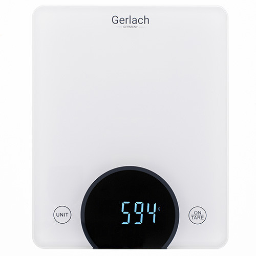 Gerlach Kitchen scales GL 3172 Maximum weight (capacity) 10 kg, Graduation 1 g, Display type LED, White