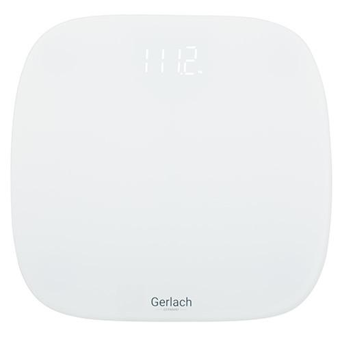 Gerlach Bathroom scale GL 8166  Maximum weight (capacity) 180 kg, Graduation 100 g, Display type LED, White