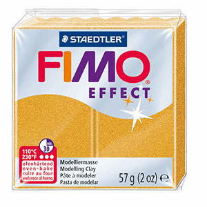Modelling Clay FIMO EFFECT, 57 g, glitter gold
