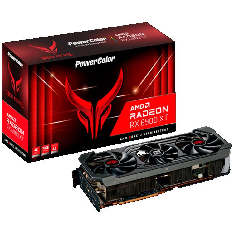PowerColor TUL Video Card AMD Radeon RX-6900XT Red Devil 16GB, 256bit GDDR6, 2340Mhz, PCI-E 4, 3x DP, HDMI, Triple Fan, 3 slot