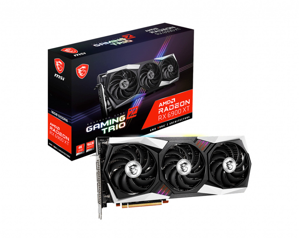 MSI Radeon RX 6900 XT GAMING Z TRIO 16G Radeon, 16 GB, RX 6900 XT, GDDR6, PCI Express 4.0, Processor frequency 2425 MHz, HDMI ports quantity 1