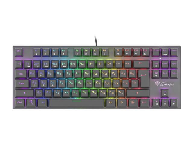 Genesis THOR 300 TKL RGB Gaming keyboard, RGB LED light, RU, Black, Wired