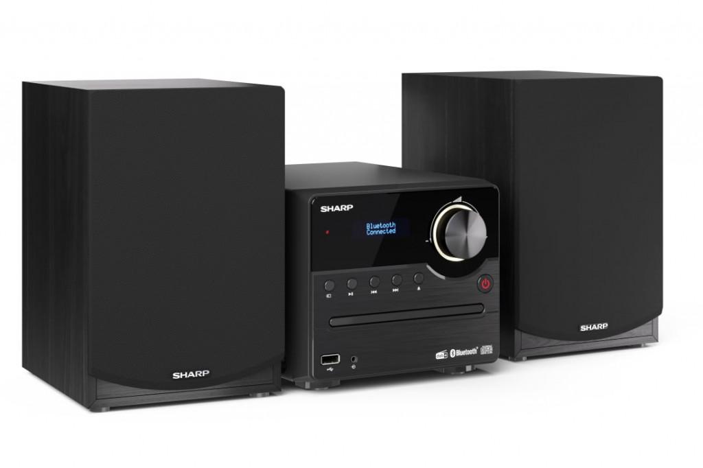 Sharp XL-B517D(BK) Hi-Fi Micro System, CD/FM/USB/Bluetooth v5.0, Aux-in, 45W, Black