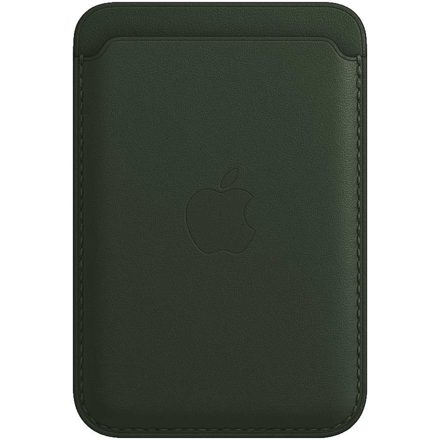 iPhone Leather Wallet with MagSafe - Sequoia Green, Model A2688