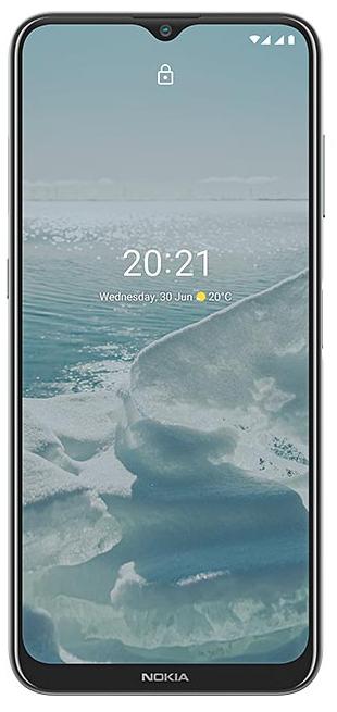 "Nokia G20 TA-1336 6.52 "", Silver, IPS LCD, 720 x 1600 pixels, MediaTek Helio G35, Dual SIM, Nano-SIM, 5.0, Internal RAM 4 GB, 64 GB, MicroSDXC, 3G, 4G, Main camera 48+5+2+2 MP, Secondary camera 8 MP, Android, 11, 5050 mAh"