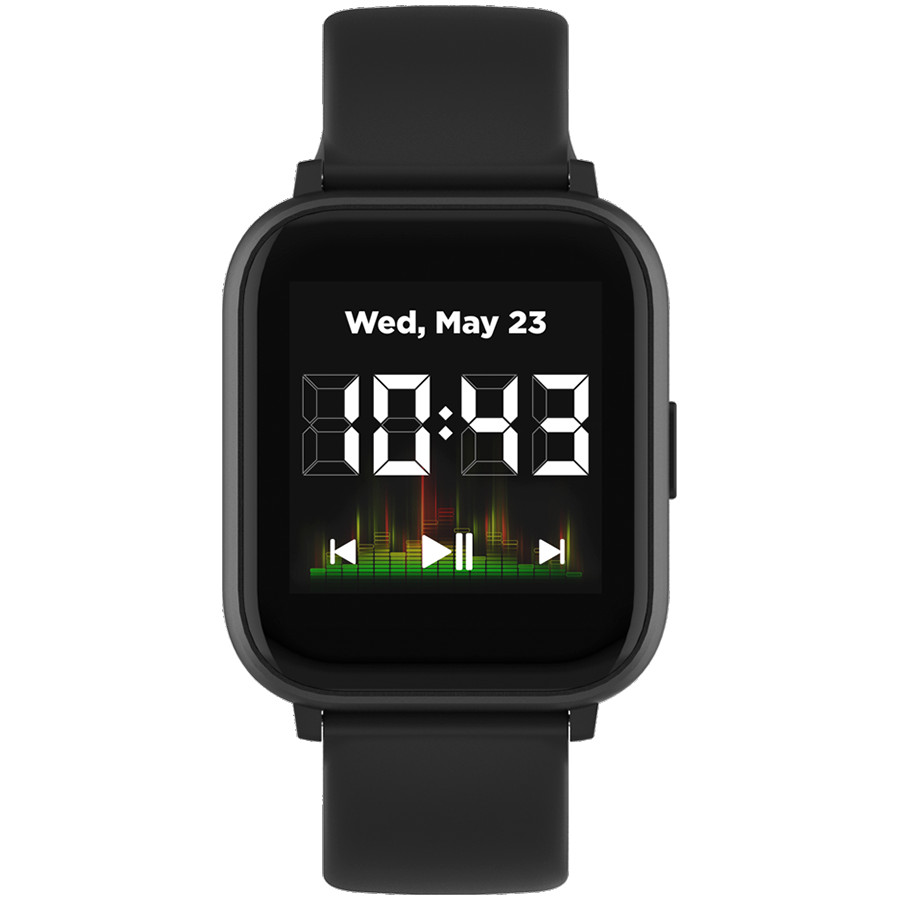 Smart watch, 1.4inches IPS full touch screen, with music player plastic body, IP68 waterproof, multi-sport mode, compatibility with iOS and android, , Host: 42.8*36.8*10.7mm, Strap: 22*250mm, 45g