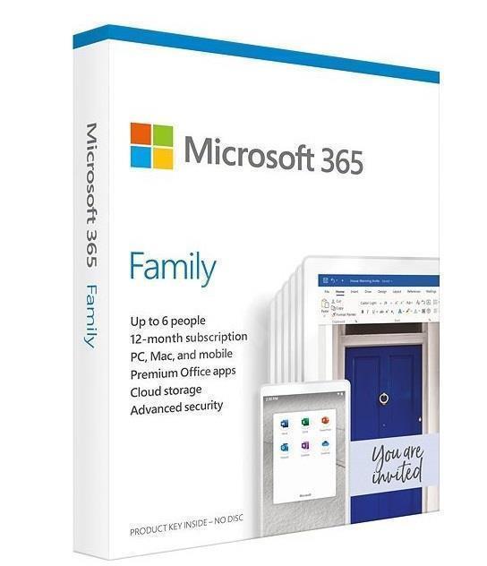 Microsoft 365 Family 1 litsents(i) Tellimus Inglise keel 1 aasta(t)