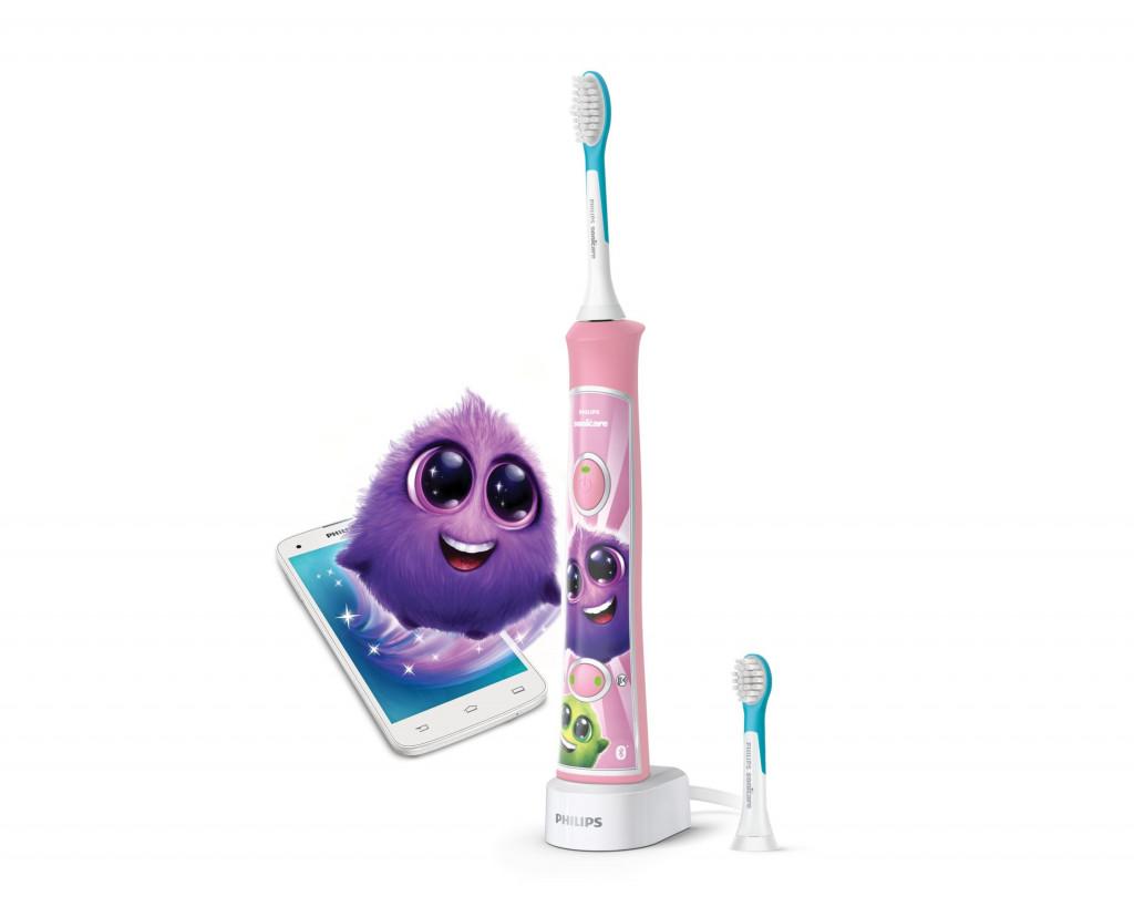 Philips Sonicare For Kids Sisseehitatud Bluetooth® Elektriline Sonic-hambahari lastele