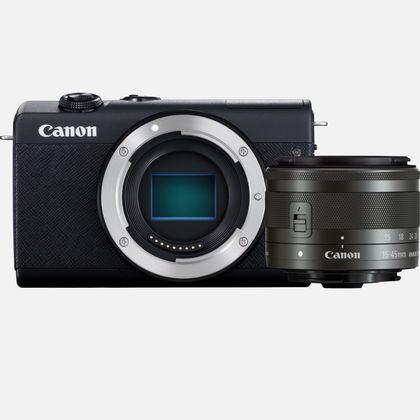 Canon EOS M200 + EF15-45MM F/3.5-6.3 IS STM MILC (Peeglita vahetatavate objektiividega kaamera) 24,1 MP CMOS 6000 x 4000 pikslit Must