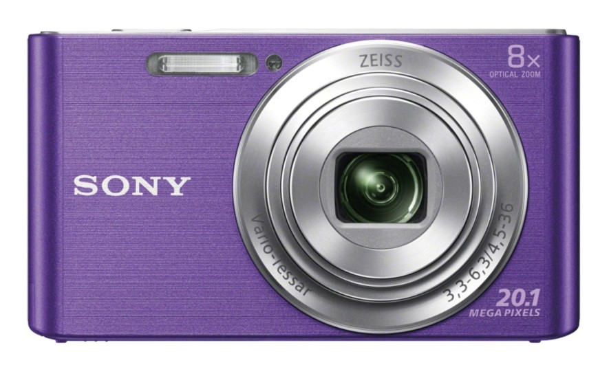Sony Cyber-shot DSC-W830 Compact camera, 20.1 MP, Optical zoom 8 x, Digital zoom 32 x, ISO 3200, Display diagonal 6.86 cm, Video recording, Lithium, Purple