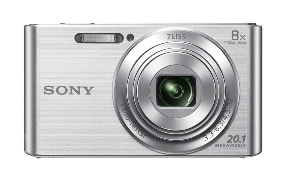 Sony Cyber-shot DSC-W830 Compact camera, 20.1 MP, Optical zoom 8 x, Digital zoom 32 x, ISO 3200, Display diagonal 6.86 cm, Video recording, Lithium, Silver