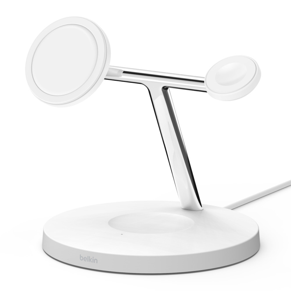 BELKIN MagSafe 3-in-1 Wrls Charger WHT