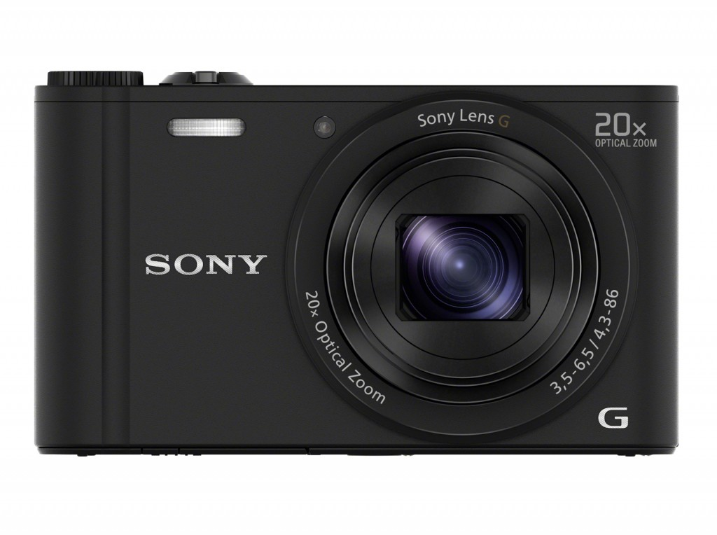Sony Cyber-shot DSC-WX350 Compact camera, 18.2 MP, Optical zoom 20 x, Digital zoom 40 x, Image stabilizer, ISO 12800, Display diagonal 7.62 cm, Wi-Fi, Video recording, Black