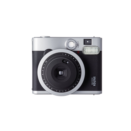 Fujifilm Instax Mini 90 NEO CLASSIC camera + Instax mini glossy (10) Black/Stainless steel, 0.3m - ∞