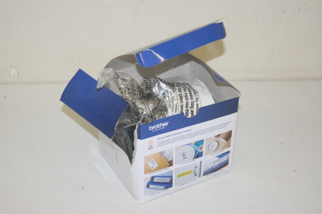 SALE OUT. Brother DK-11247 Label Roll – Black on White, 103mm x 164mm Brother Label Roll  DK-11247 Black on White, DAMAGED PACKAGING, 10.3 x 16.4 cm, 180 labels per roll