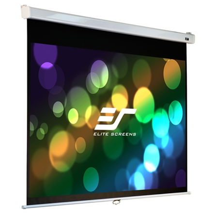 "Elite Screens Manual Series M113NWS1 Diagonal 113 "", 1:1, Viewable screen width (W) 203 cm, White"
