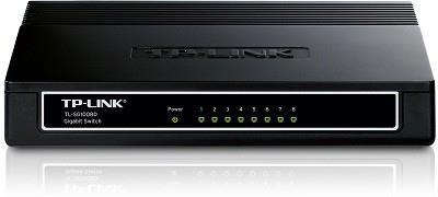 TP-LINK TL-SG1008D võrgulüliti Mittejuhitav Gigabit Ethernet (10/100/1000) Must