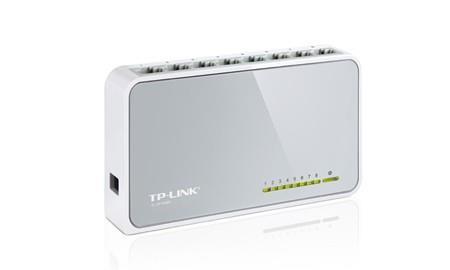 TP-LINK TL-SF1008D võrgulüliti Mittejuhitav Fast Ethernet (10/100) Valge