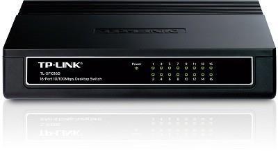 TP-LINK TL-SF1016D võrgulüliti Fast Ethernet (10/100) Must