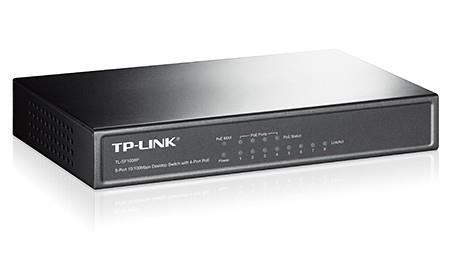 TP-LINK TL-SF1008P võrgulüliti Mittejuhitav Fast Ethernet (10/100) Power over Ethernet tugi Oliiv