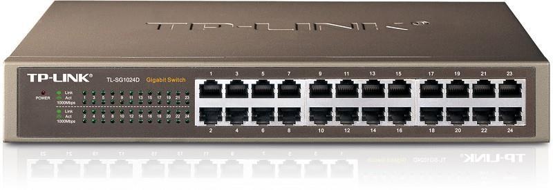 TP-LINK TL-SG1024D võrgulüliti Mittejuhitav Gigabit Ethernet (10/100/1000) Hall