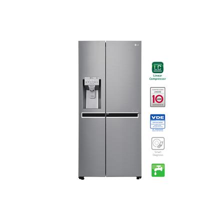 LG Refrigerator GSJ960PZBZ Free standing, Side by Side, Height 179 cm, A++, No Frost system, Fridge net capacity 422 L, Freezer net capacity 246 L, Display, 39 dB, Inox
