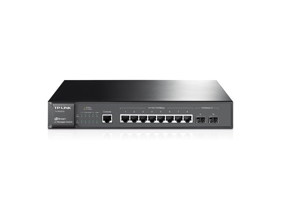 TP-LINK TL-SG3210 võrgulüliti Juhitav L2 Gigabit Ethernet (10/100/1000) Must