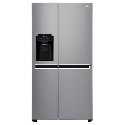 LG Refrigerator GSL761PZUZ Free standing, Side by Side, Height 179 cm, A++, No Frost system, Fridge net capacity 405 L, Freezer net capacity 196 L, Display, 39 dB, Inox