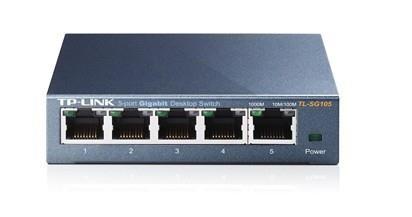 TP-LINK TL-SG105 võrgulüliti Mittejuhitav L2 Gigabit Ethernet (10/100/1000) Must