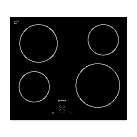 Bosch PKE611D17E Vitroceramic, Number of burners/cooking zones 4, Black,