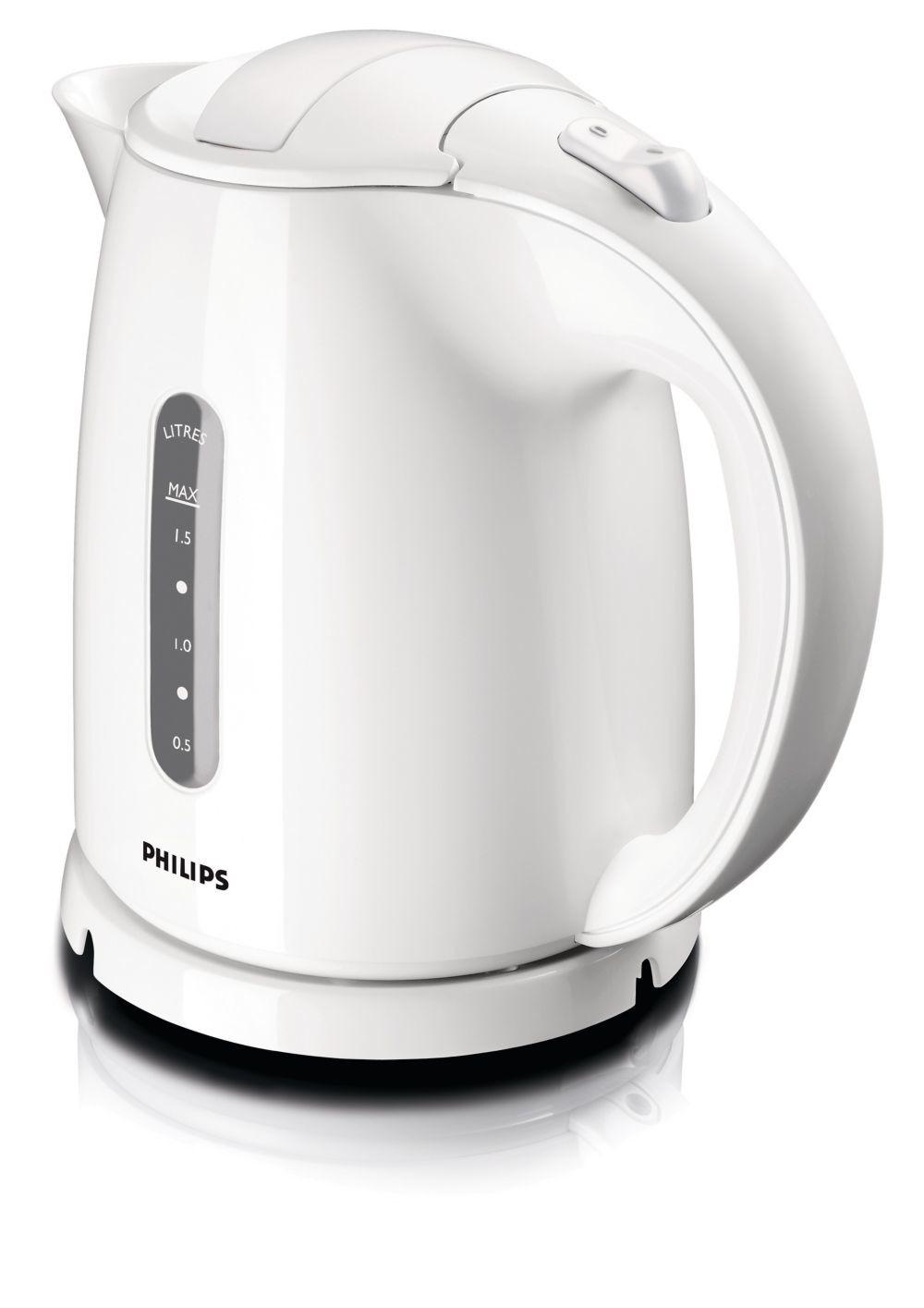 Philips Kettle HD4646/00 Standard, Plastic, White, 2400 W, 360° rotational base, 1.5 L