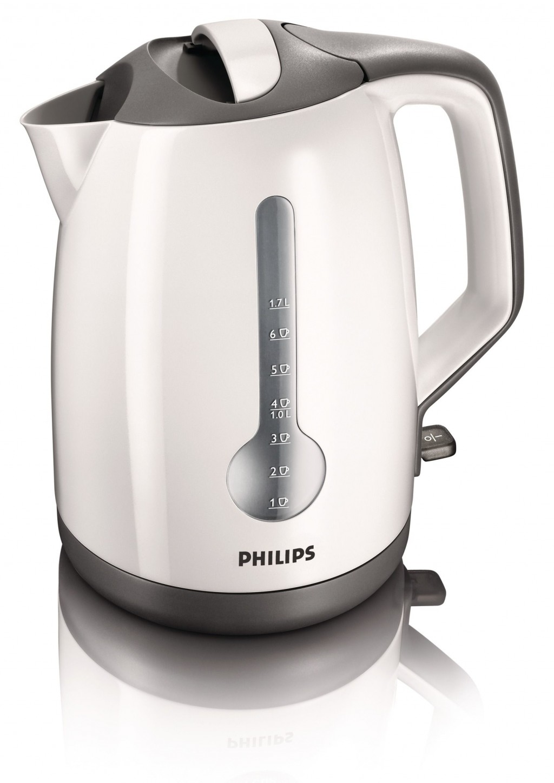 Kettle Philips HD4649/00 Standard kettle, Plastic, White, 2400 W, 360° rotational base, 1.7 L