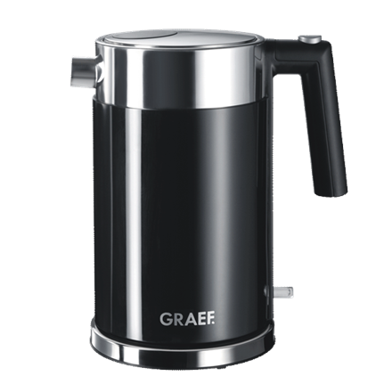 GRAEF. Kettle WK 62 Standard, Stainless steel, Black, 2150 W, 360° rotational base, 1.5 L