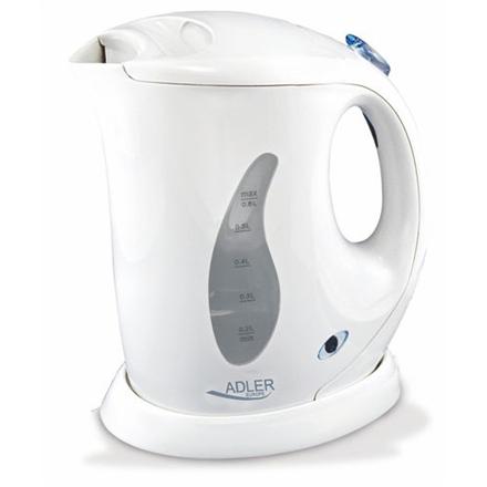 Adler Kettle AD 02 Standard, Plastic, White, 760 W, 0.6 L