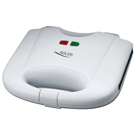 Adler Waffle maker AD 311 700 W, Number of pastry 2, Belgium, White