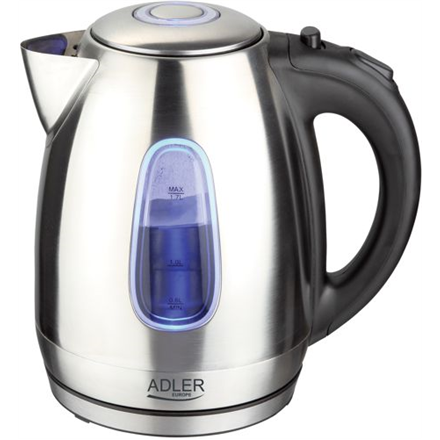 Adler Kettle AD 1223 Standard, Stainless steel, Stainless steel, 2200 W, 360° rotational base, 1.7 L