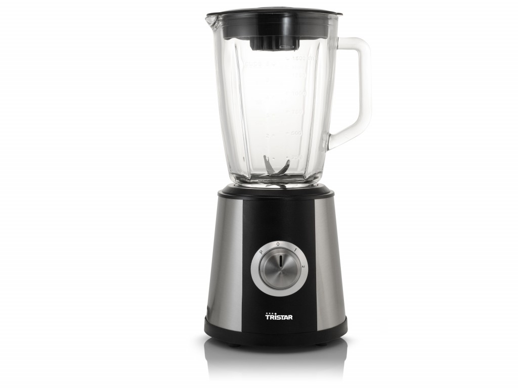 Tristar Blender BL-4430 Tabletop, 500 W, Jar material Glass, Jar capacity 1.5 L, Ice crushing, Black/Stainless steel