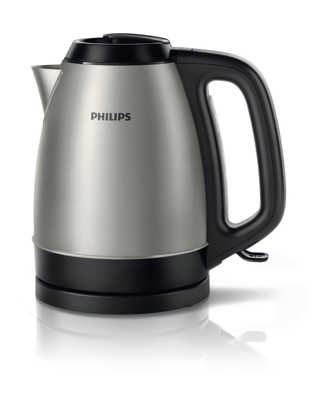 Philips HD9305/21 Standard kettle, Stainless steel, Stainless steel, 2200 W, 360° rotational base, 1.5 L