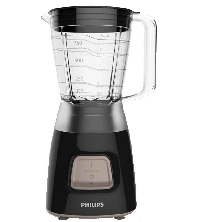 Philips Blender Daily Collection HR2052 Tabletop, 350 W, Jar material Plastic, Jar capacity 1.25 L, Ice crushing, Black