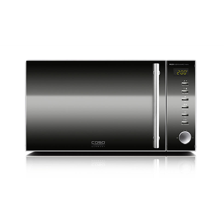 Caso Microwave oven MG20C 20 L, Grill, Buttons, Rotary, 800 W, Black, Stainless steel, Free standing, Defrost function