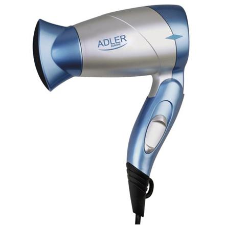 Adler Hair dryer AD 223 bl Foldable handle, Motor type DC, 1300 W, Blue/Silver